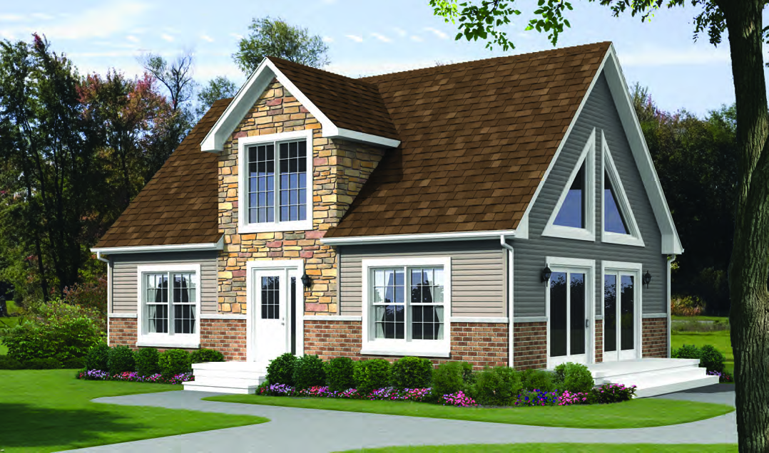 Oasis homes alpine modular 1 5 story for 1 5 story home
