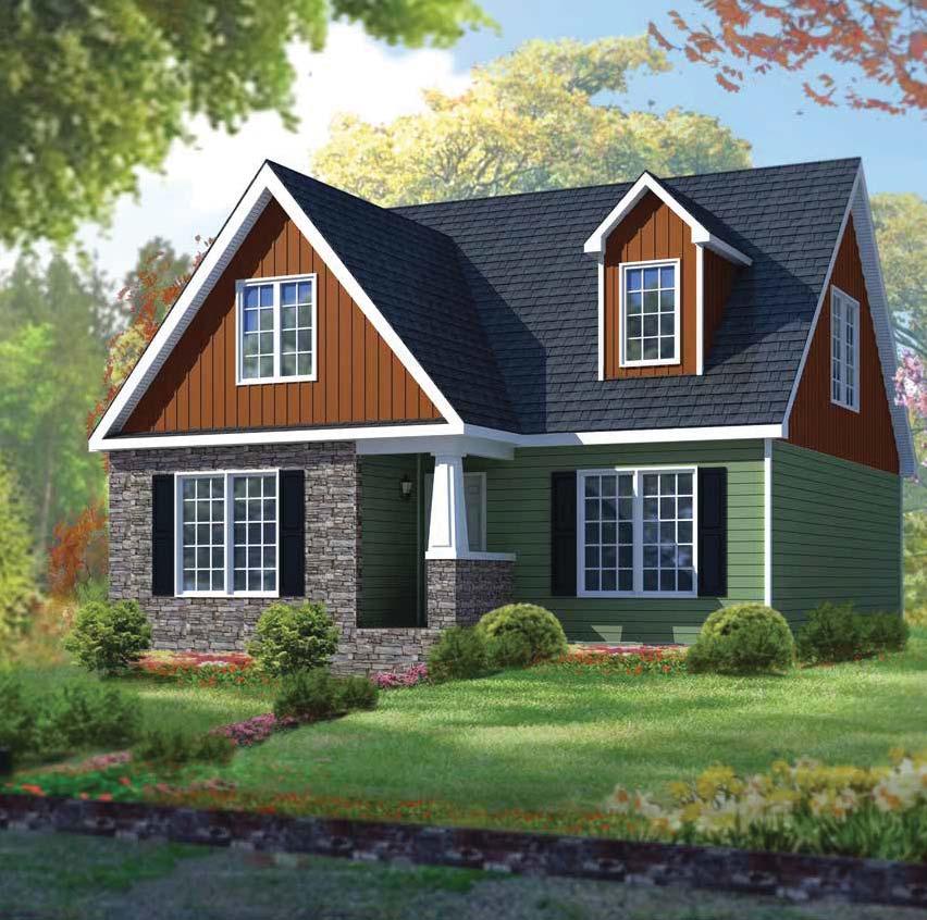 Oasis homes barcley modular 1 5 story for Barclay home design