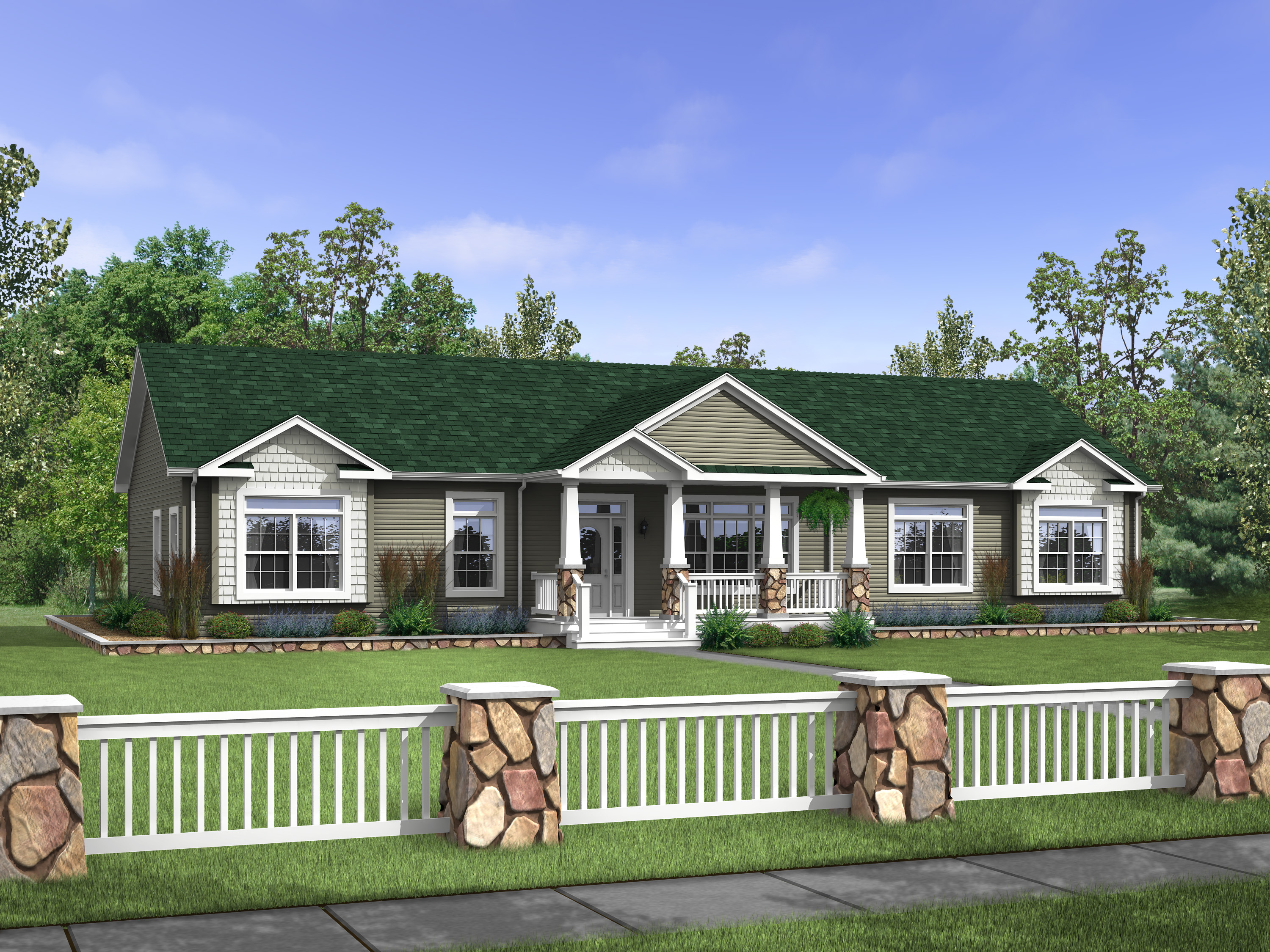Affordable Modular Ranch Value Home Floor Plans on